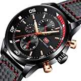 Herren Uhren, Herren Armbanduhr Sport Chronograph Analog Quarz Business Fashion Wasserdicht Sportuhr