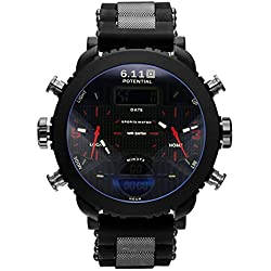 2017 Military Royale Quartz Wrist Watch Date Gunmetal Black Sport Army