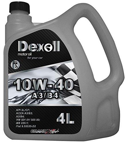 Dexoll PKW Motoröl 10W-40 geeignet für Benzin- und Dieselmotoren, 4 liter