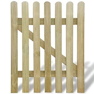 vidaXL Wooden Garden Gate 100 x 120 cm