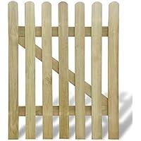 vidaXL Puerta de madera para jardín, 100 x 120 cm