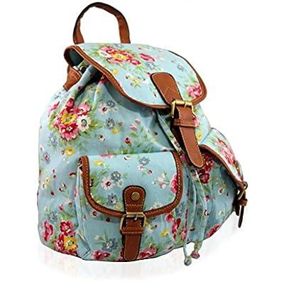 KUKUBIRD nueva gran bolsa de hombro, una mochila con el modelo de flores azules cielo flores