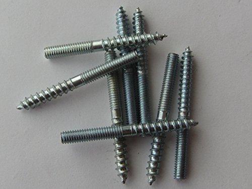 HKB® Stockschrauben M 4 x 40 mm, Stahl verzinkt, 10 Stück