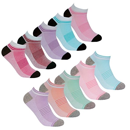 RedTag Active Ladies 10 Pairs Multipack of Sport Trainer Liner Socks With Arch Support