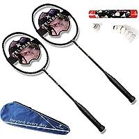 12 Top-B/älle Federball-Set Federball-Spiel Betzold Sport 35882 12 Badminton-Schl/äger Badminton-Set mit Tasche