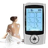 FDA Cleared Tens Unit Muscle Stimulator Electronic Pulse Massager Tens Machine für Schmerzlinderung bei Neck Schulter Rückenschmerzen mit 4 Elektrotherapie Pads, 16 Massage Modi, 20 Intensität Niveaus