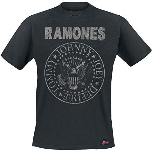 Ramones Hey Ho Let's Go - Vintage Camiseta Negro XL