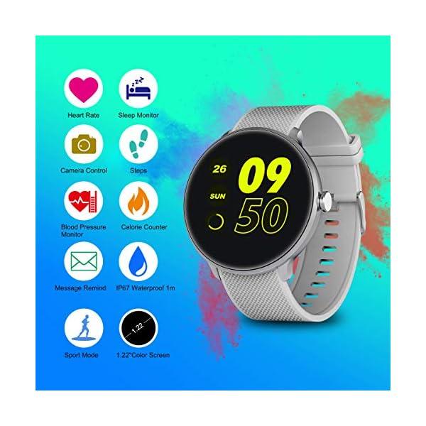 Bebinca Smartwatch Reloj Inteligente con Cronómetro, Pulsera Actividad para Deporte,Reloj de Fitness con Podómetro… 2