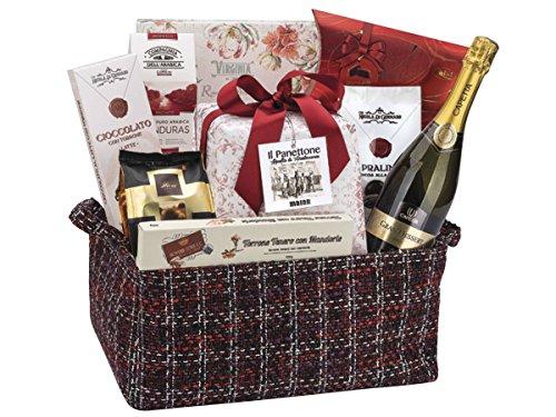 """Geschenkkörb italienish für Weihnachten """"Süße Geschenkidee Italienischer Weihnachtskorb - Insgesamt 11 Teile"""" Geschenkkorb Präsentkorb (Code N148)"""