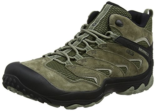 Merrell Herren Cham 7 Limit Mid Waterproof Trekking-& Wanderstiefel, Grün (Dusty Olive), 44.5 EU (10 UK) Herren Cap Toe Boot