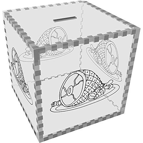 Azeeda Grande 'Cena de jamón' Caja de Dinero / Hucha (MB00061282)