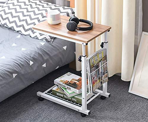 ode Tragbare Verstellbare Klapp Holz Laptop Tisch Schlafsofa Büro Laptop Stand Schreibtisch Computer Notebook Bett Tisch (Farbe : F) ()