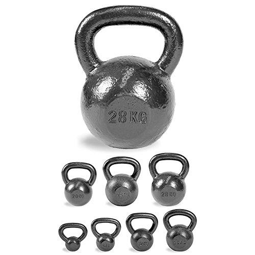 ScSPORTS Kettlebell 4 kg / 8 kg / 12 kg / 16 kg / 20 kg / 24 kg / 28 kg Kugelhantel Hammerschlag-Optik Gewicht (28 kg)