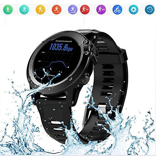 YUEC Smart Watch Wasserproof IP68 Fitness Tracker Watch with Heart Rate Monitor Sleep Monitor Pedometer Step Calorie Counter Smart Notifications Compatible,A - Dual-funktion Pedometer