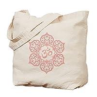 CafePress - Pink Lotus Flower Yoga Om - Natural Canvas Tote Bag, Cloth Shopping Bag