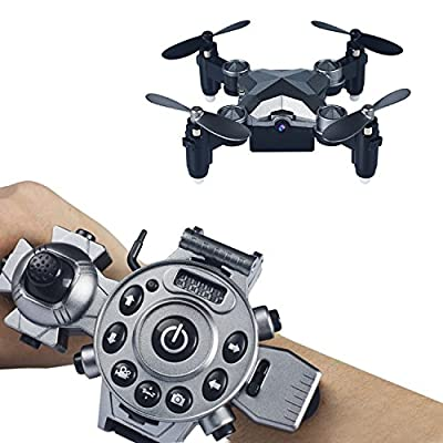 Megadream Remote Control Drone?Mini Quadcopter Camera Portable Watch Style Mini Fold Drone Wifi FPV for Kids, Battery Charge