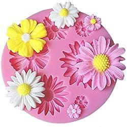 Zeagro - Molde de Silicona con diseño de Margaritas y Flores para decoración de Tartas de Fiesta de Bienvenida de bebé