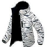 Southplay Herren Camouflage mit Kapuze Wasserdichte Winter Snowboard-Weißer Sand (Large)