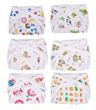 Kuchipoo Cotton Baby Nappies, 6-12 Months (Multicolour, Kuc-Rnap-101) - Pack of 6