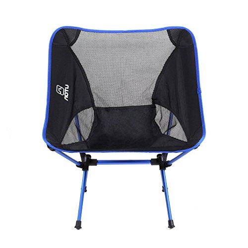 Black Friday FEMOR Tragbare Folding Camping Hocker Angelstuhl Faltstuhl Klappstuhl Picknick Grill-Strand mit Tasche bis150kg blau