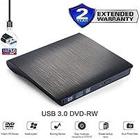 Externo USB 3.0externo de DVD unidad grabadora DVD RW, CD RW DVD grabadora de CD, grabadora, copiadora, lector óptico DVD Doble Capa regrabable, unidad para todos los portátiles, de sobremesa, Netbook, Portátil, Apple Mac