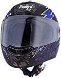 Steelbird SBA-1 Free Live Matt Black with Blue with Plain visor,580mm