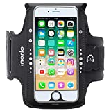 iPhone 7 Armband, und 8/ 6 / 6S (4,7 Zoll) , Sport-Armband, Halterung mit Kopfhörerkabelfach & Schlüssel-/Kartentasche für iPhone 8/7/6S für Gym, Laufen, Joggen, Wandern, Radfahren, Wandern