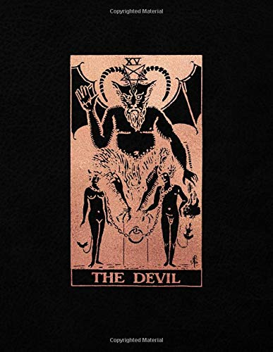 The Devil: College Ruled Journal    8.5 x 11 A4 Notebook   Black and Rose Gold Design - 150 College Ruled Lined Pages (Black and Rose Gold - College Ruled Composition Notebook, Band 1)