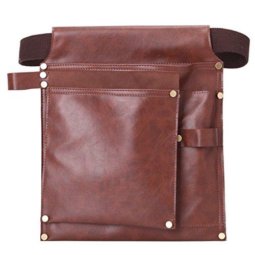 Leathario Borsa Porta Utensili/Borsa degli attrezzi Pelle sacchetto della tasca Cintura per gli attrezzi Borsa per dell'elettricista Carpenter