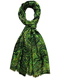 LORENZO CANA de soie vert-foulard pour homme style marin en coton 70 x 190 cm-Paisley Bauwollschal Seidenschal 8910711