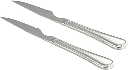 Sanjeev Kapoor Omega Stainless Steel Steak Knife Set, 2-Pieces, Silver