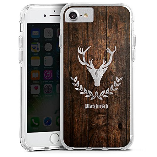 Apple iPhone 6s Bumper Hülle Bumper Case Glitzer Hülle Deer Hirsch Schweiz Bumper Case transparent
