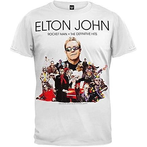 Old Glory para hombre Elton John - Rocket 08 Man azul Tour T-de manga corta de mujer