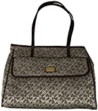 Tommy Hilfiger Purse Handbag Signature Logo Tote Beige/Brown