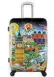Koffer, Reisegepäck, Trolley by Heys - Premium Designer Hartschalen Koffer - Künstler Fazzino London Koffer mit 4 Rollen Gross
