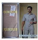 Siyaram's Unstiched Premium Safari Suit Fabric 2.8m Length (WHITE GREY SHADE436L)