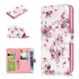 iPhone 6 Case , iPhone 6s Case , MS Jumpper Premium [Card Slot] Magnetic Hybrid Wallet Case Flip Cover For Appple iPhone 6 and iPhone 6s 4.7 inch (plum blossom)