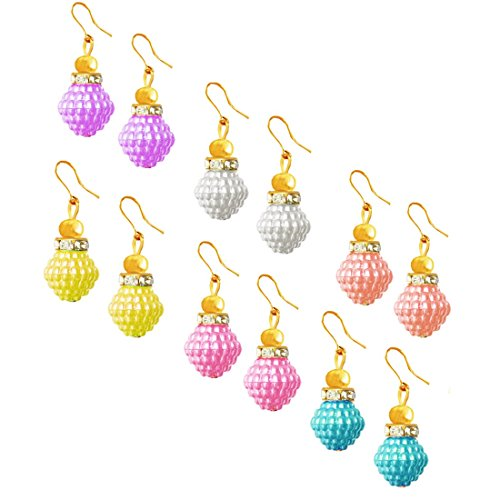 Beingwomen Trendy Elegent Fashion Multicolor Fancy Party Wear dangler Combo Earring  available at amazon for Rs.85