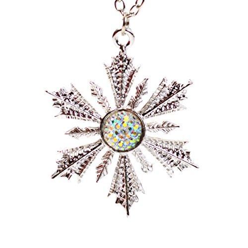 Kristall Schneeflocke Halskette-Once Upon A Time-Frozen, Anhänger Inspiriert-Anna 's Wishing Star Snow Flake (Snow Flake Elsa)