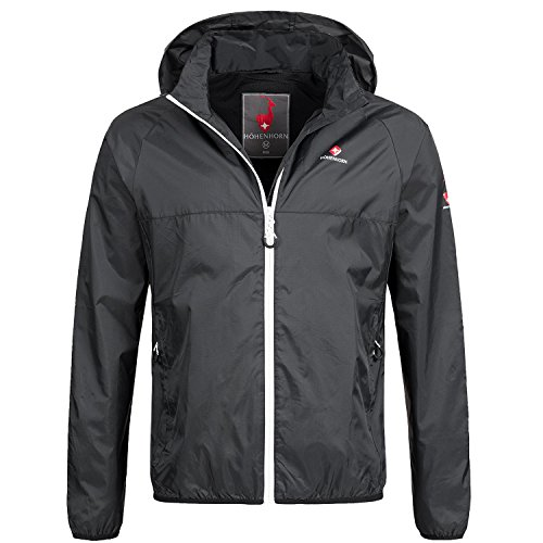 Höhenhorn rigi giacca da pioggia per uomo giacca da pioggia per esterno giacca da pioggia con cappuccio (m, nero/bianco)