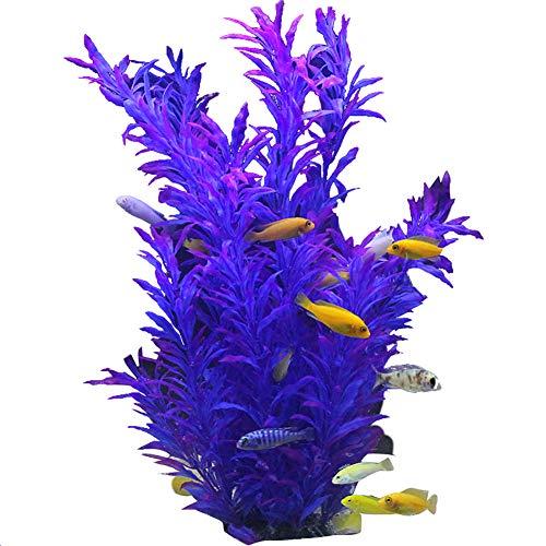 Makwes künstliche Aquariumpflanze, grüne echt aussehende Aquarium-Zierblätter, Plastikpflanzen für Aquarien,Aquariendekoratio, Aquarium Pflanze Künstliche, Pflanze Kunststoff Dekoration (Echt Aussehende Aquarium Pflanze)