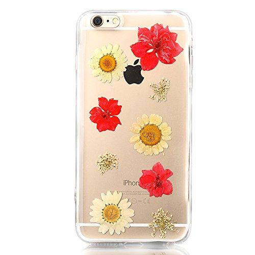 """iPhone 6sPlus Schutzhülle, iPhone 6Plus Soft TPU Handytasche, CLTPY Modisch Durchsichtige Rückschale im Getrocknete Blumenart, [Stoßdämpfung] & [Kratzfeste] Full Body Case für 5.5"""" Apple iPhone 6Plus/ Flower 29"""