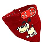#7: Pet Wholesale Adjustable Scarf Cum Bandana Cum Neckerchief Collar for Puppies, Dog and Cat - Dog Printed (1-inch)