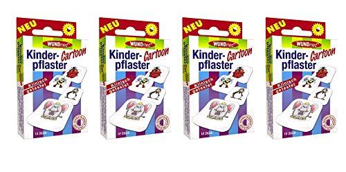 Kinderpflaster/Pflaster / Stripes für Kinder im Set - mit tollen bunten Motiven - wählbar: Kunterbunt – Prinzessin – Einhorn – Tiere - Cartoon/für Mädchen (Cartoon 40 Stück Rund)