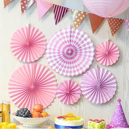 Fan Flower Decoration Home Birthday Layout Wedding Holiday Party Ball - Tape Decorations Printable Edge Plates Gift Assorted Sheets Organizer Heart Black Knife Invitation B ()