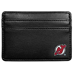 NHL New Jersey Devils Leather Weekend Wallet, Black