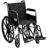 Drive Medical SSP118FA-SF - Silla de ruedas autopropulsada (45,7 cm), color plateado