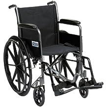 Drive Medical SSP118FA-SF - Silla de ruedas autopropulsada (45,7 cm), color plateado
