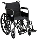 Drive Medical SSP118FA-SF 18-inch Self Propel Silver Sport Wheelchair (Eligible for VAT relief in the UK)