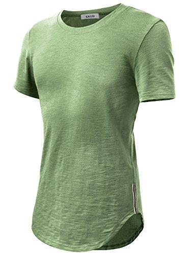 KAIUSI Herren Basic kurzarm T-Shirts mit Rundhals Grün